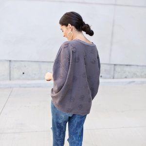 Oversized Zara short sleeve sweatshirt